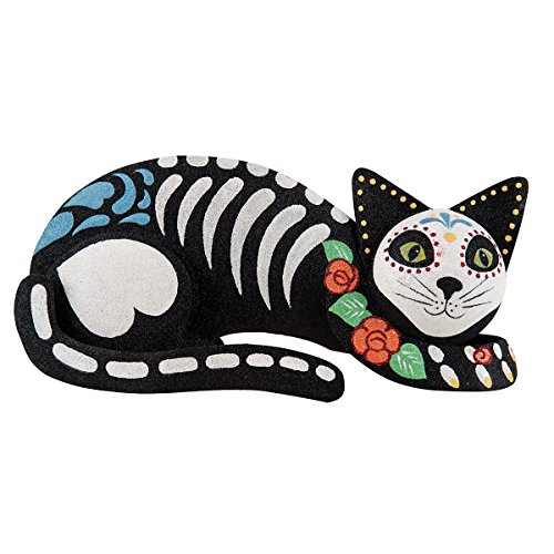 GII Seated Day of the Dead Cat Black -