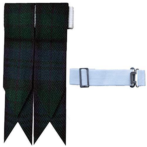 - Brand New Green Tartan Scottish Flash Kilt Hose/Sock Flashes