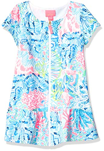 Lilly Pulitzer Big Girls' UPF 50+ Ivy Cover UP Multi Sink OR Swim, Orange, M