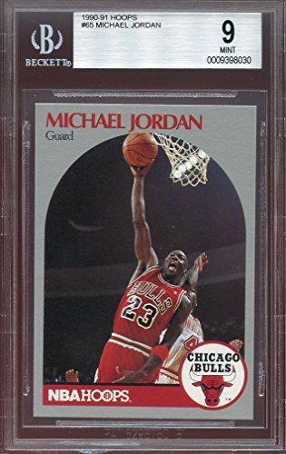 1990-91 hoops #65 MICHAEL JORDAN chicago bulls BGS 9 Graded Card 1990 Hoops