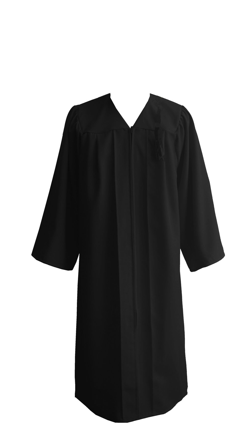 Leishungao Adult Black Choir Robe Matte Finish for Choir Clergy ReligiousWearing Height 5'9''-5'11''FF by Leishungao (Image #3)
