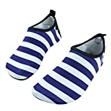 SENFI Boys Girls Water Shoes Mutifunctional Barefoot Quick Dry Aqua Shoes for Beach Pool Eercise (Toddler/Little Kid/Big Kid),NS02,t.Blue,36.37
