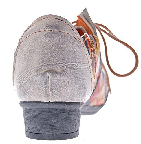 Chaussures Tma Classique À Lacets Coupe Blanc Femme Et qTavdfxa