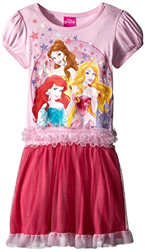 Disney Little Girls' Princess Tutu Dress, Petal Pink, 6X (Disney Princess Pink Dress)