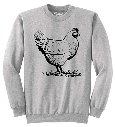 Men's Crewneck Sweatshirt Funny Chicken T Shirt Cock Rooster Sexual Ash Grey S Cock Ash Grey T-shirt