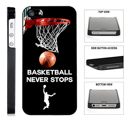 [TeleSkins] - Basketball Never Stops - iPhone 4 / 4S Blac...