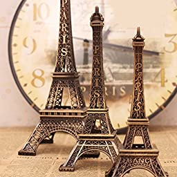Kalevel 48cm 19inches France Paris Eiffel Tower Statue Decor Effiel Tower Decorations Metal Eiffel Tower Statue Birthday Party Supplies Home Decor Living Room Decor Art Statue