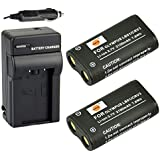 DSTE® 2x CR-V3 Battery + DC78 Travel and Car Charger Adapter for Olympus C3000 C3040 40Z C-2100UZ C-211 C-211Z C-3000 C-3030 C-3030Z C-3040Z C-4000 C-5050 C-5050Z C-700 C-700UZ C-720 C-740 C-740UZ C-750 C-750UZ C-730 C-4040 C-4040Z C-3020 C-3020Z D390 D510 Camera as LB01 CRV3 LB-01