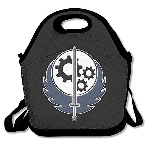 Fallout Sword With Wings Lunch Bag Lunch Tote, Waterproof Outdoor Travel Picnic Lunch Box Bag Tote With Zipper And Adjustable Crossbody Strap