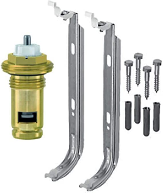 Belrad Typ 33 600x1200 mm Universalheizk/örper Kompakt /& Ventilheizk/örper Halter /& Ventil 6 Anschluss