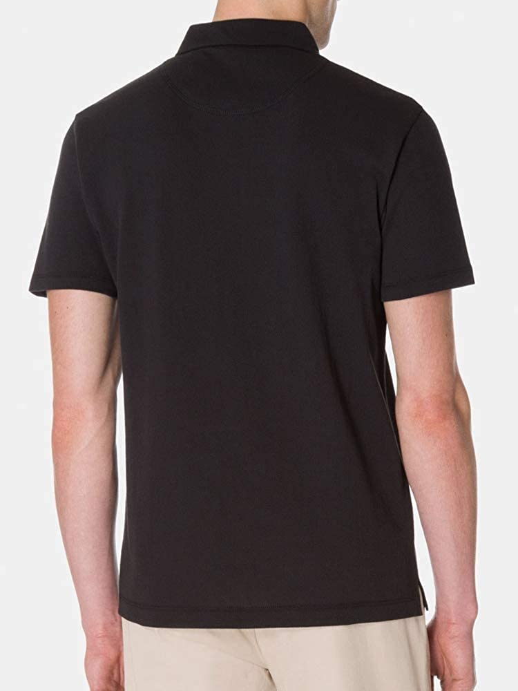 67c1643f Sunspel Riviera Short Sleeve Cotton Polo Shirt in Black at Amazon Men's  Clothing store: