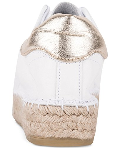 André Assous Womens Champ Top Low Lace Up Fashion, Bianco / Oro, Taglia 11.0