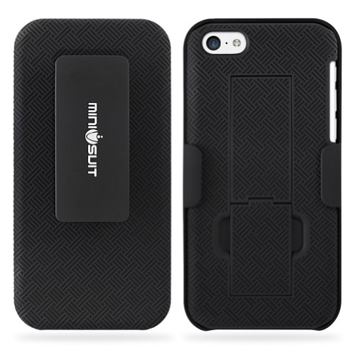 Minisuit Clipster Kick Stand Case Belt Clip for iPhone 5C