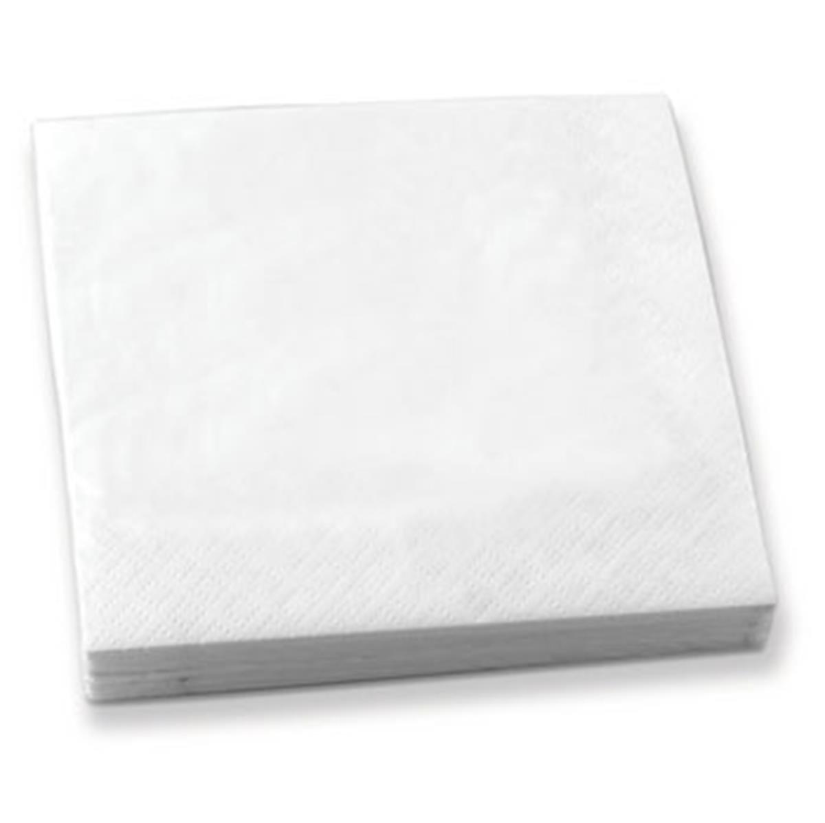Epic 76-313 5 X 5 Set of 50 Folded White Beverage Napkin 2-Ply