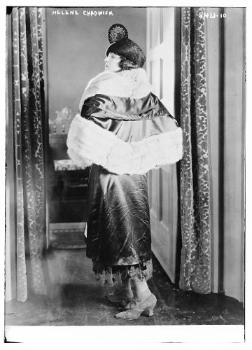Photo: Helen Chadwick,fur lined clothing,shawls,dresses,hats,women,Bain News (Chadwicks Womens Dress)