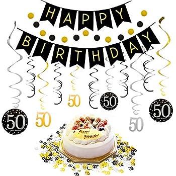 Amazon.com: 50th Birthday Decorations Kit for Men & Women ...
