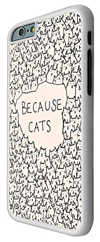 552 - Because Cats Collage Sketch Multi Cats Cute Funky Design iphone 6 6S 4.7'' Coque Fashion Trend Case Coque Protection Cover plastique et métal - Blanc