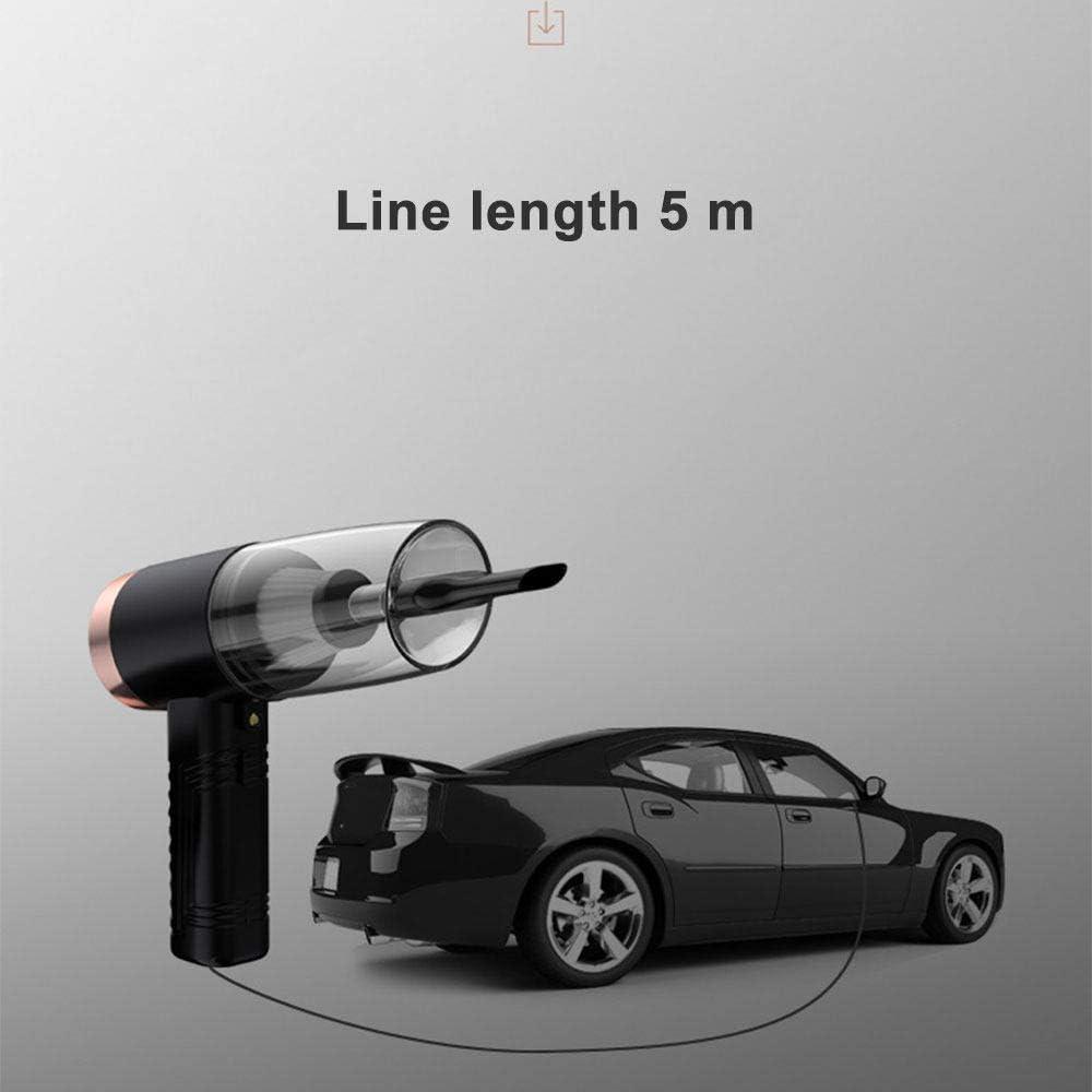 LJQLXJ aspirateur Aspirateur à main pour voiture Filaire Aromathérapie sec et humide 120W LED 12V Aspirateur automobile 3in1, rose Rose