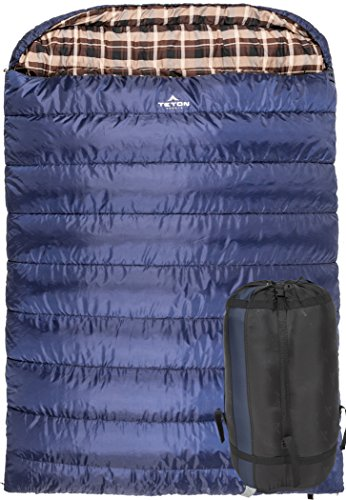 TETON-Sports-Mammoth-Queen-Size-Sleeping-Bag-Free-Compression-Sack-Included
