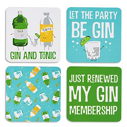 Pavilion Gift Company 74933 Gin & Tonic Sentiment, Pattern and Character Holder 4