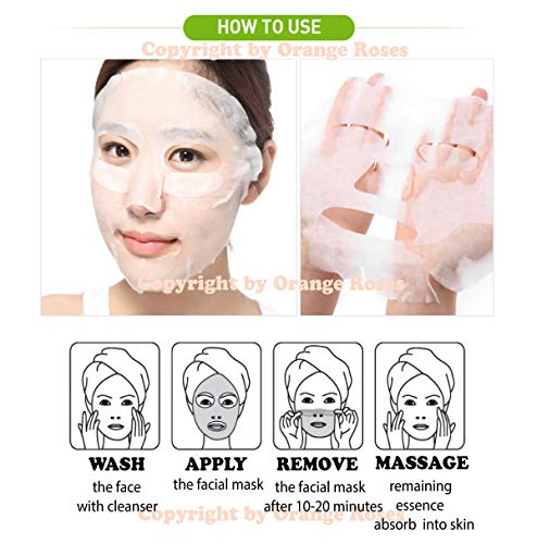 {Entel} 100 Pcs Combo-Pack, Premium Korean Essence Facial Mask Sheet (10 Types x 10 pcs), Five Chemical Free : No Paraben, No Silicon, No Mineral Oil, No Artificial Colors,No Ethanol