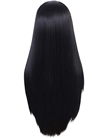 Lace Front Long Straight Wigs Fashion Black Wigs Looking Natural Heat Resistant Long Hair for Women