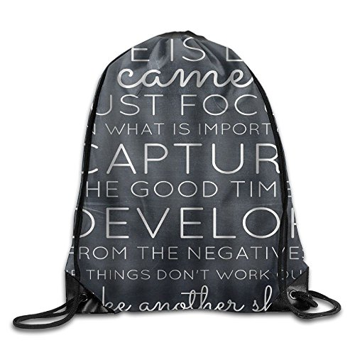 Inspirational Quotes   Life Is Like A Camera Cool Drawstring Travel Sports Backpack Gift