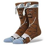 Stance Men's Tupac Socks Brown L