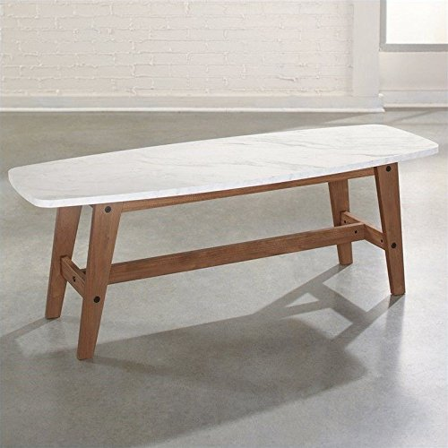 Sauder Soft Modern Cocktail/Coffee Table in Fine Walnut (Acrylic Coffee Table)