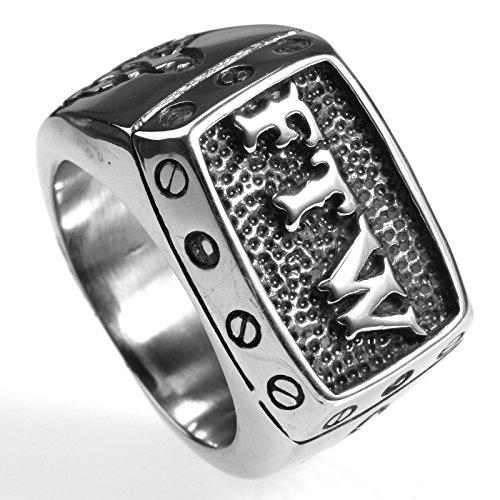 Stainless Steel FTW Biker Rider Middle Finger Ring (10) -