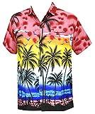 La Leela Likre palm tree cruise Coconut tree clouds Hula flying birds Sunset bamboo tree aloha Red XXL