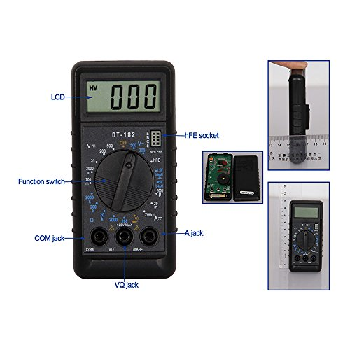 OLSUS DT182 LCD Handheld Digital Multimeter for Home and Car - Black by OLSUS (Image #5)