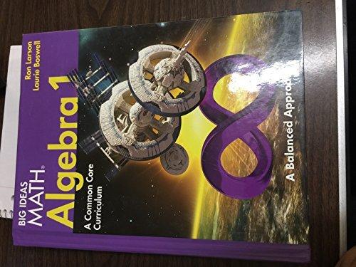 BIG IDEAS MATH Algebra 1: Common Core Student Edition 2014