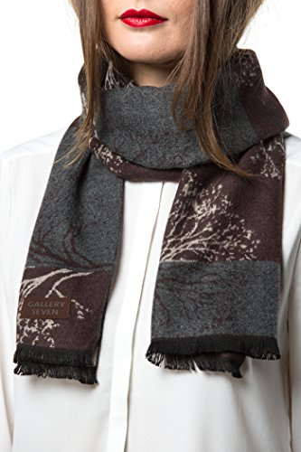 Gallery Seven Winter Scarfs for Women - Fashion Womens Winter Scarves - Elegant Gift Wrapped - Smoky Forest by Gallery Seven