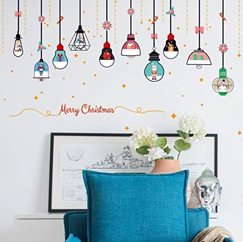 1 Pack New Year Christmas Chandelier Glass Door DIY Wall Sticker Flowers Tree Ocean Decal Boys Home Laptop Decals Awe-Inspiring Fashionable Vinyl Mural Art Decor