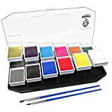 #1: Artiparty Face & Body Paint Kit Professional Palette – Non-Toxic & Hypoallergenic – Easy to Apply & Remove – Plastic Box for Ease of Storage&Carrying – Ideal as Adults & Kids Face Painting Set