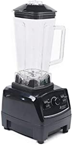 2L 2200W Professional Countertop Blender Heavy Duty Commercial Grade Blender Mixer with Food Grade ABS Stirring Rod for Milkshakes and Ice Cream (black)