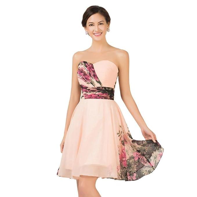 Ever Pretty, Grace Karin Quissmoda vestido fiesta corto boda, color estampado, talla 34