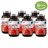 6 Bottle Bundle - Save an Extra 20% - Pure Antarctic krill Oil Supplements - Healthy Heart, Brain & Joint Support Pills - 1,000 mg per serving with 450 mg Phospholipids and 200mcg of Astaxanthin