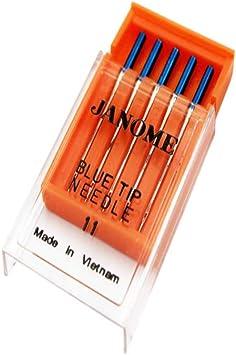 Juego de 5 agujas para máquina de coser, tela elástica para evitar ...