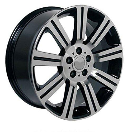 20x9.5 Wheel Fits Land Rover - Range Rover Stormer Style Black w/Mach'd Face Rim