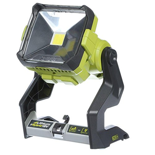 (Ryobi P721 One+ 1,800 Lumen 18V Hybrid AC and Lithium Ion Powered Flat Standing LED Work Light with Onboard Mounting Options (Battery and Extension Cord Not Included, Light Only))