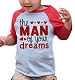 7 ate 9 Apparel Boy's Valentine's Day Toddler Vintage Baseball Tee 2T Red and Grey
