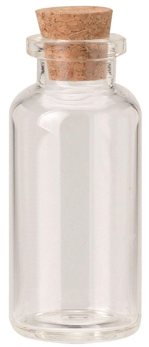 GLOREX Glasfläschchen, 7 ml, Glas, Transparent, 8.5 x 2 x 10 cm GLOREX Glasfläschchen GLOREX GmbH 6 8605 102