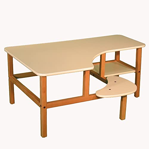 Wild Zoo Furniture Childs Wooden Computer Desk for 1, Ages 2 to 5, White