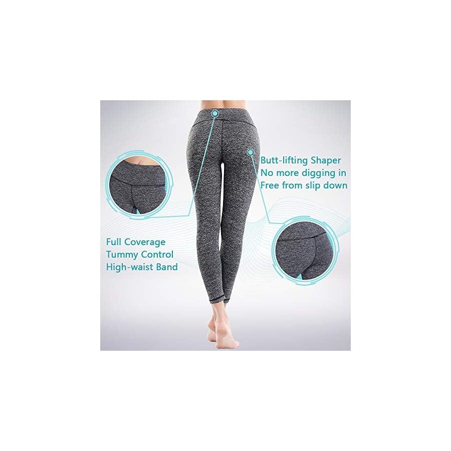 ZEALOTPOWER Yoga Pants for Women Capri Tummy Control High Waist Side Pockets