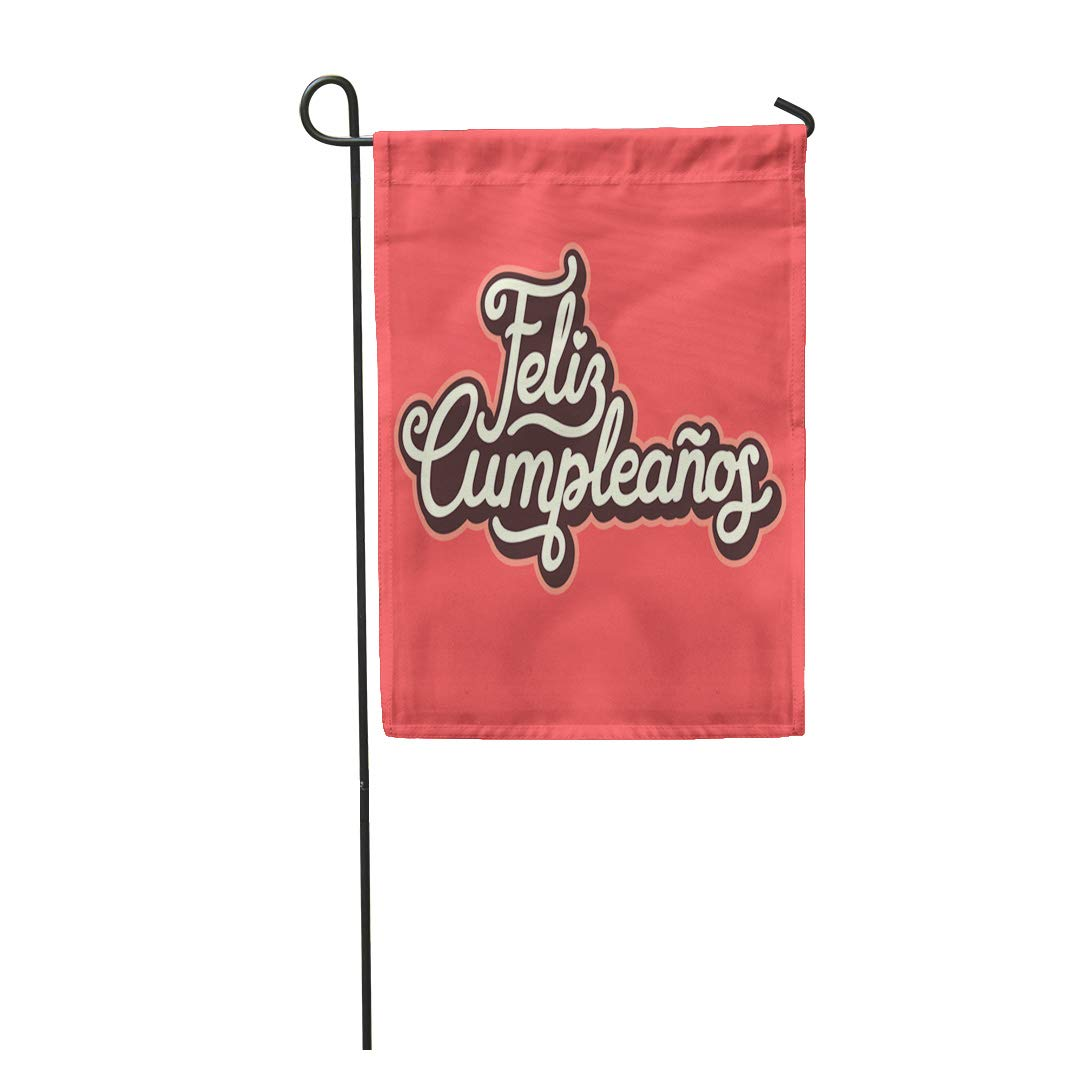 Amazon.com : Semtomn Garden Flag Lettering Feliz Cumpleanos ...