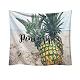 Weiliru Tapestry Wall Hangings Wall Blanket Art Dorm Shawl Beach Towel Throw Tapestry Decor Bedspread Bedroom Living Kids Girls Boys Room Dorm Accessories(Pineapple),95x73cm