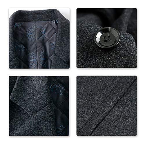 Caban grauer Winter Warmer Wolle Man Long Coat Allthemen aus Trenchcoat XZkPuOi