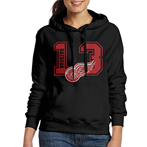 BFWL Women's Hooded Sweatershirts Hoodies Pavel #13 Hockey Logo Datsyuk Black S